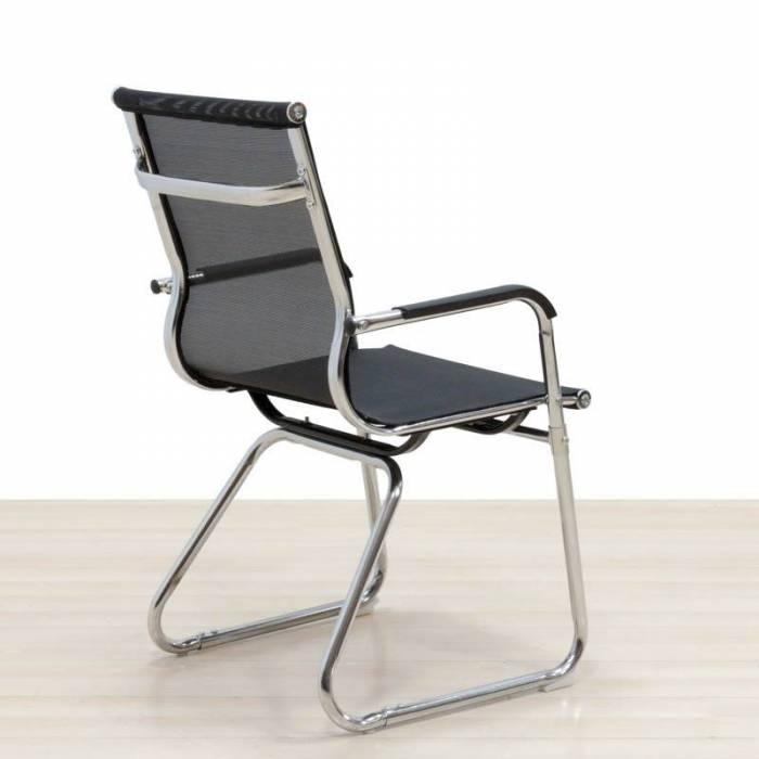 Cadeira confiável de malha preta