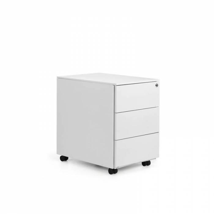 Cômoda branca de três gavetas