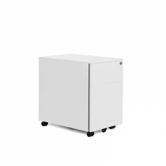 Baú de gaveta e arquivo branco