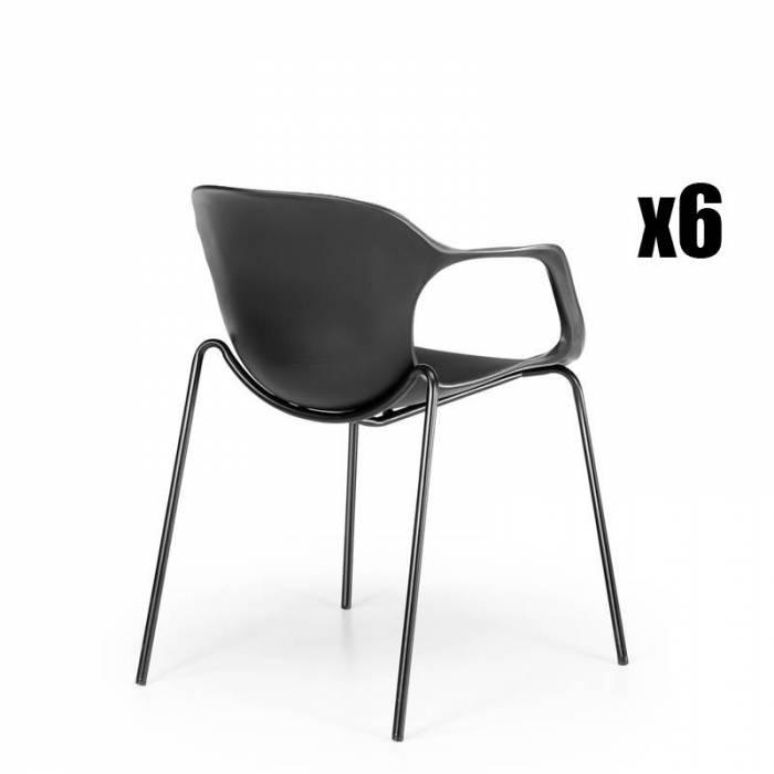 Pack de 6 cadeiras Confidant