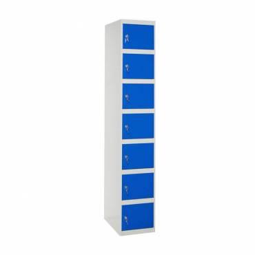 Taquilla siete puertas azul
