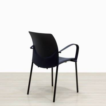 Silla Confidente ABS negro