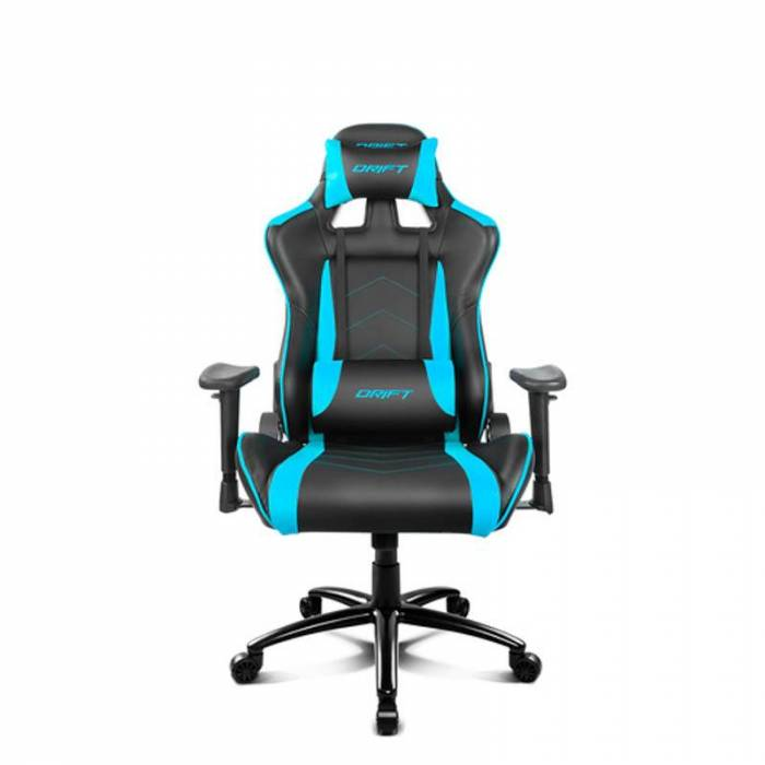 Cadeira Gaming DRIFT Mod. DR150, design em quatro acabamentos, preto, azul, vermelho ou verde.