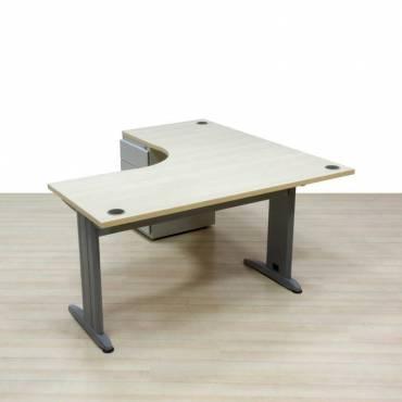 mesa operativa con cajonera arce
