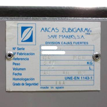 Caja Fuerte ARCAS ZUBIGARAY
