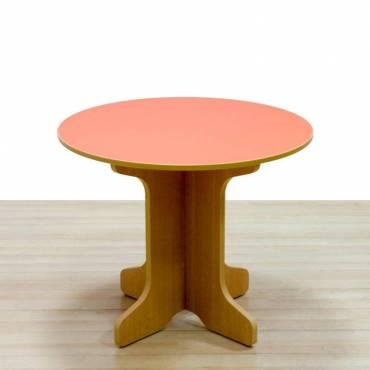 Mesa reunión redonda naranja