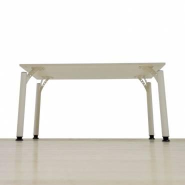 Mesa Operativa Mod. SNOW, Tapa en madera color Blanco, Patas diseño color Blanco.