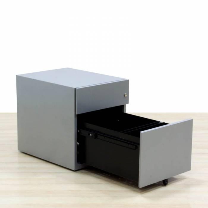 Unidade de gaveta móvel Mod. ROLL II, Gaveta e arquivo, Cor cinza, Anti-tip.