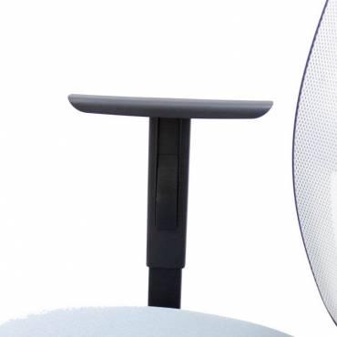 Cadeira de trabalho Modelo CAS Encosto de malha com braços