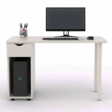 Mesa Operativa Mod. TELETRA, tapa en color Blanco fabricada en madera.